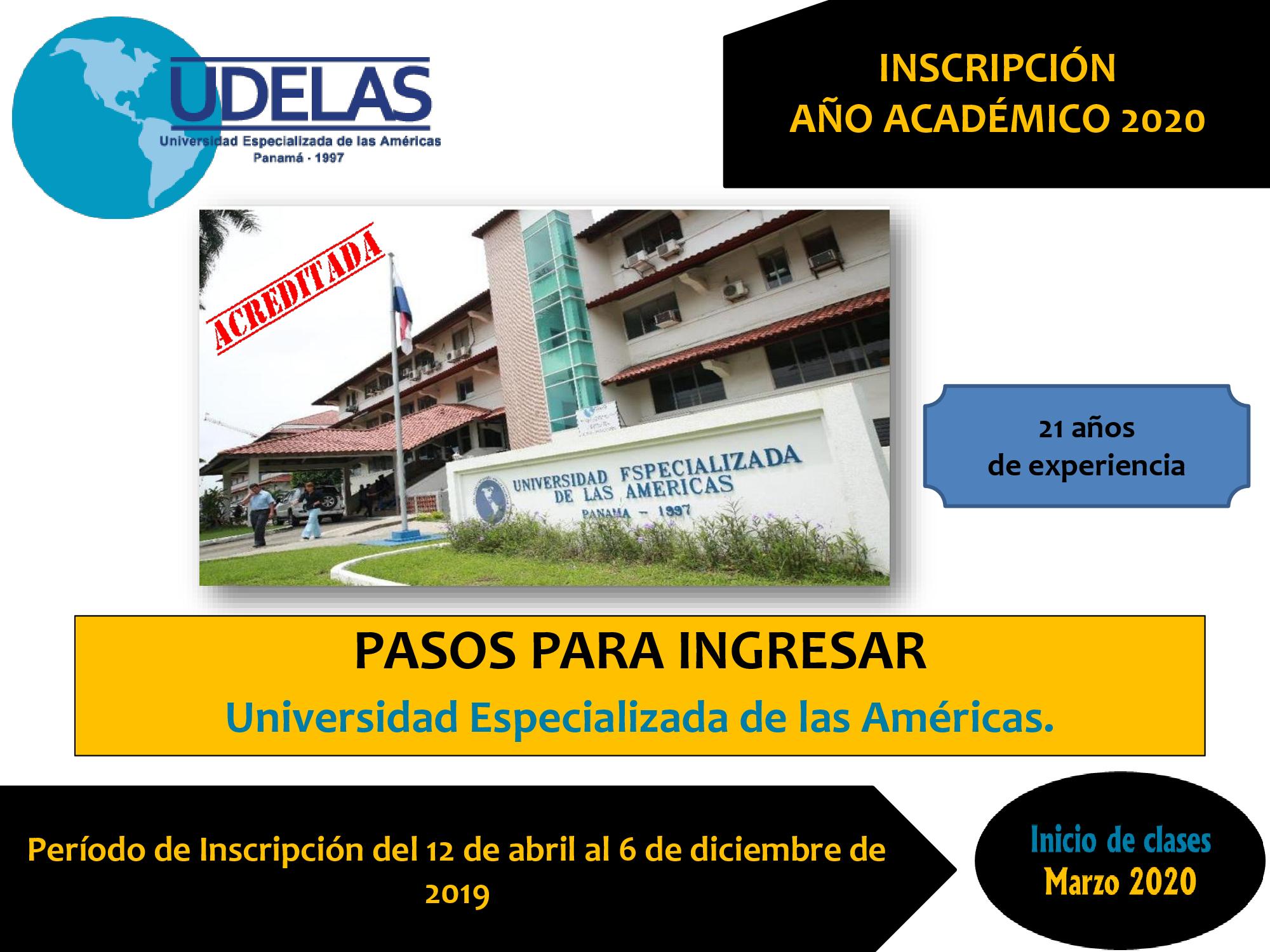 Calendario Escolar Universidad De Panama 2019.Admision 2020 Udelas